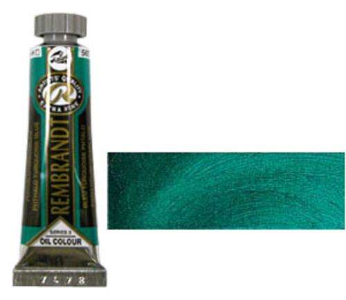 レンブラント 油絵具5号(15ml) 565フタロターコイズブルー