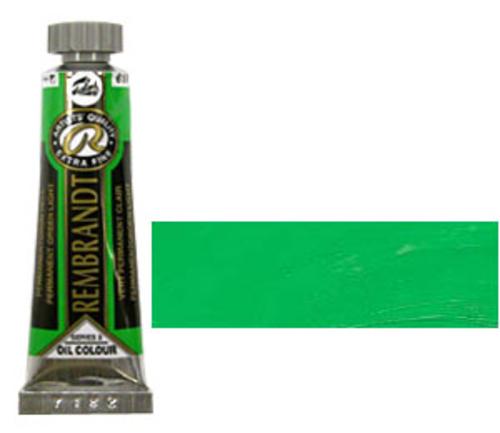 レンブラント 油絵具5号(15ml) 618パーマネントグリーンライト