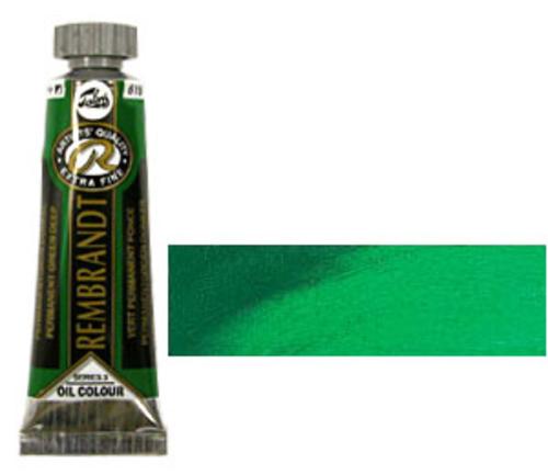 レンブラント 油絵具5号(15ml) 619パーマネントグリーンディープ