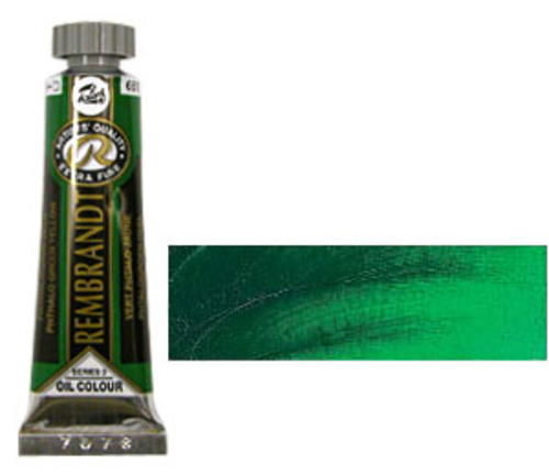 レンブラント 油絵具5号(15ml) 681フタログリーンイエロー