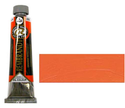 レンブラント 油絵具9号(40ml) 266パーマネントオレンジ