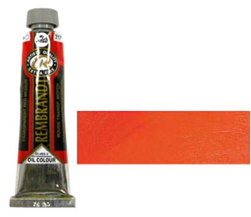 レンブラント 油絵具9号(40ml) 317トランスペアレントレッドミディアム