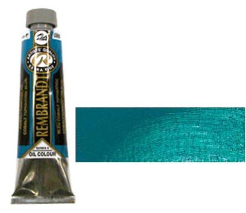 レンブラント 油絵具9号(40ml) 586コバルトターコイズブルー