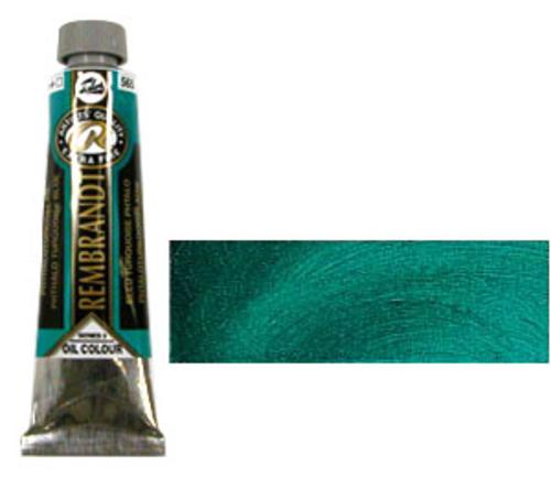 レンブラント 油絵具9号(40ml) 565フタロターコイズブルー
