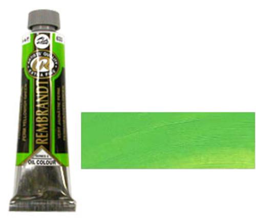 レンブラント 油絵具9号(40ml) 633パーマネントイエローイッシュグリーン
