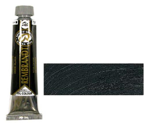 レンブラント 油絵具9号(40ml) 735オキサイドブラック