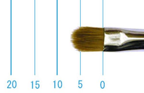 ラファエル油彩筆 8722(フィルバート・赤テン)4号