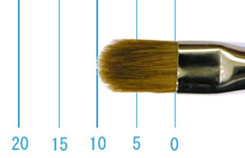 ラファエル油彩筆 8722(フィルバート・赤テン)6号