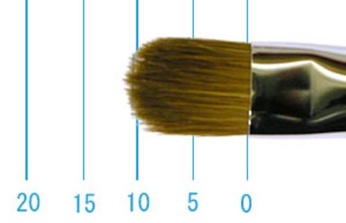 ラファエル油彩筆 8722(フィルバート・赤テン)8号