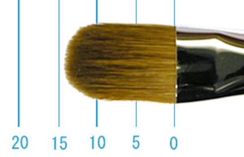 ラファエル油彩筆 8722(フィルバート・赤テン)10号