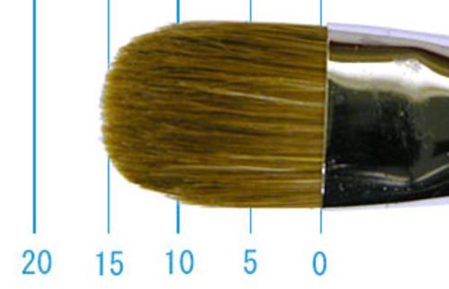 ラファエル油彩筆 8722(フィルバート・赤テン)12号