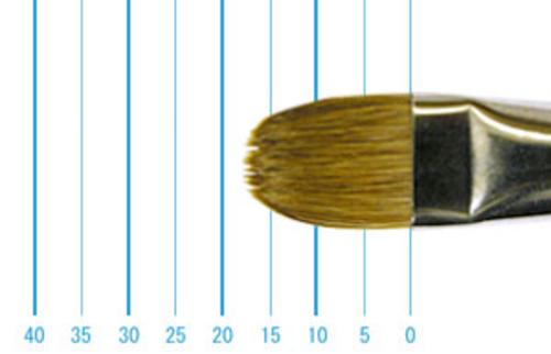 ラファエル油彩筆 8722(フィルバート・赤テン)14号
