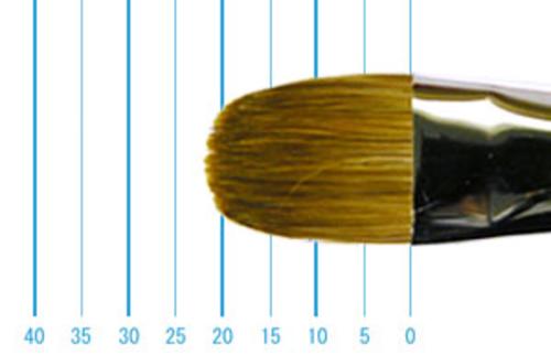 ラファエル油彩筆 8722(フィルバート・赤テン)16号