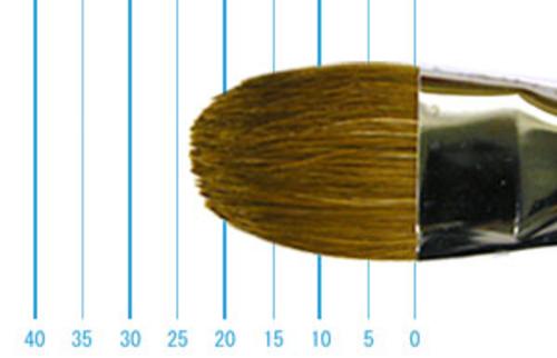 ラファエル油彩筆 8722(フィルバート・赤テン)18号