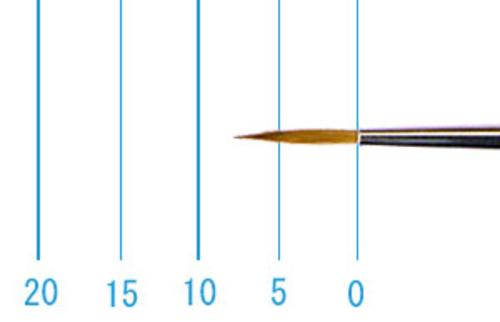 ラファエル油彩筆 862(ラウンド・赤テン)4号