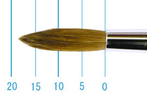 ラファエル油彩筆 862(ラウンド・赤テン)12号