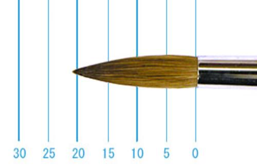 ラファエル油彩筆 862(ラウンド・赤テン)14号