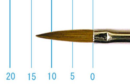 ラファエル油彩筆 8622(オブロング・赤テン)8号