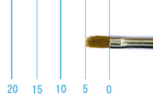 ラファエル油彩筆 872(フラット短穂・赤テン)2号