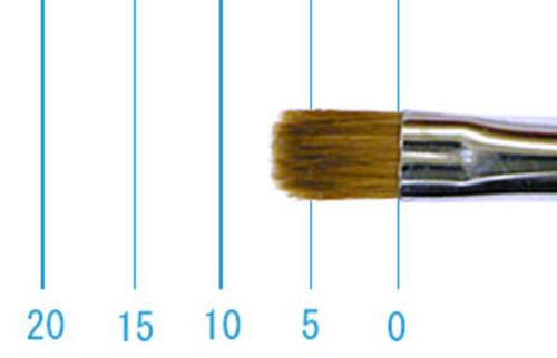 ラファエル油彩筆 872(フラット短穂・赤テン)4号
