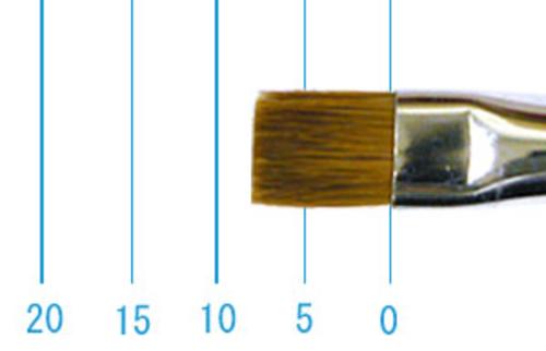 ラファエル油彩筆 872(フラット短穂・赤テン)6号