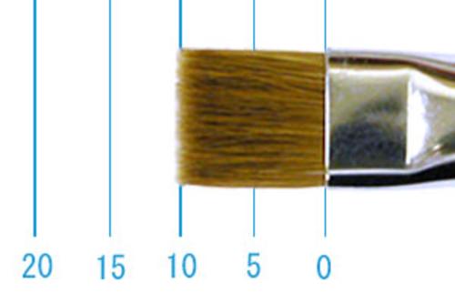 ラファエル油彩筆 872(フラット短穂・赤テン)8号