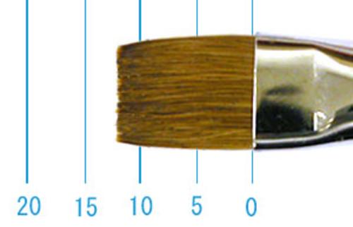 ラファエル油彩筆 872(フラット短穂・赤テン)10号