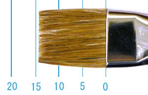 ラファエル油彩筆 872(フラット短穂・赤テン)12号