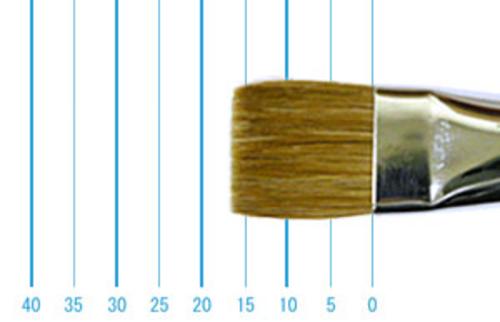 ラファエル油彩筆 872(フラット短穂・赤テン)14号