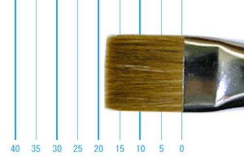ラファエル油彩筆 872(フラット短穂・赤テン)16号