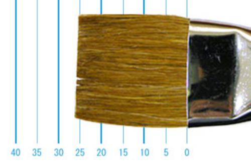 ラファエル油彩筆 872(フラット短穂・赤テン)22号