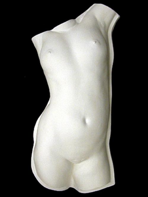 トルソ女子 実物半面(壁掛金具付) 91cm T-506