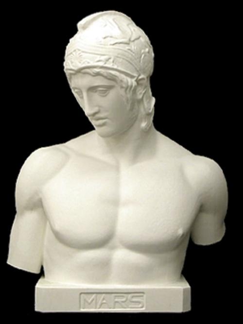 マルス胸像(台付) 83cm K-122