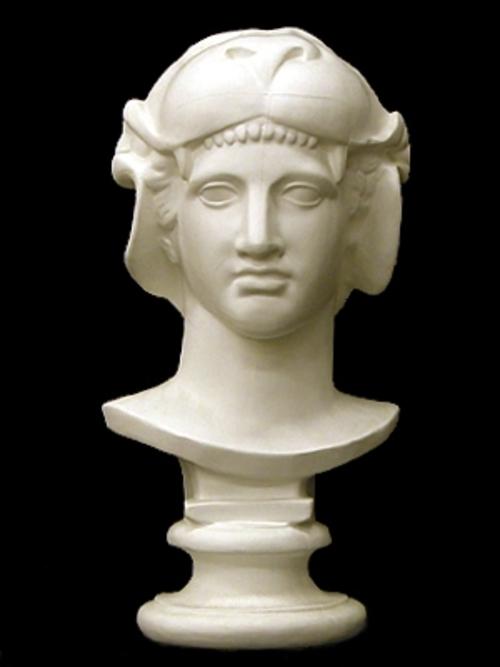 獅子冠女神胸像 60cm K-135