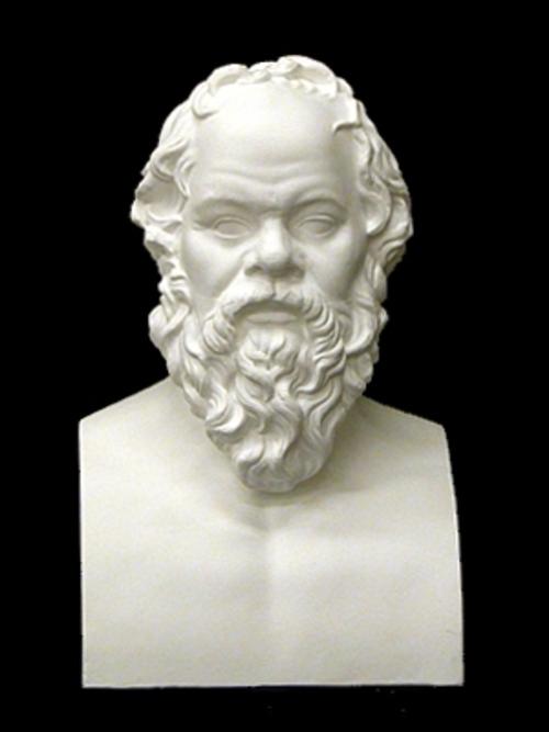 ソクラテス胸像 52cm K-150