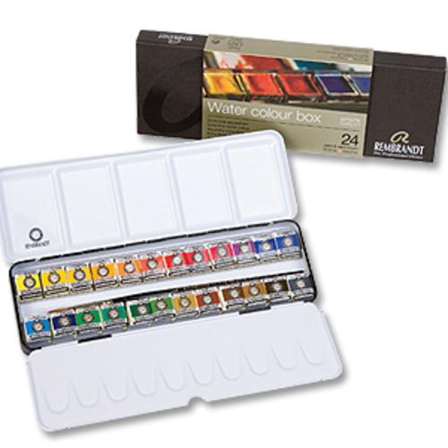レンブラント 固形水彩絵具 24色セット(メタルボックス)