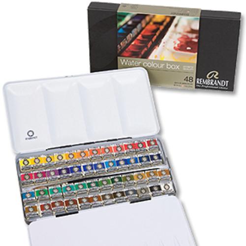 レンブラント 固形水彩絵具 48色セット(メタルボックス)