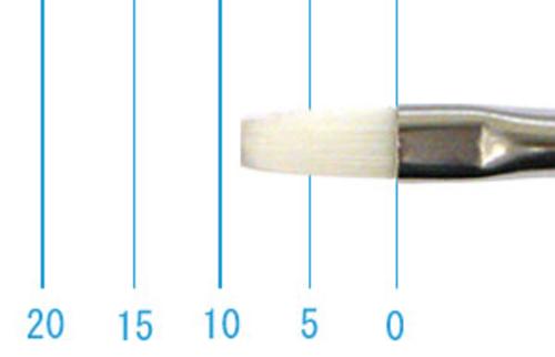 世界堂油彩筆 N666(フラット・白ナイロン)0号