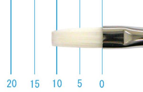 世界堂油彩筆 N666(フラット・白ナイロン)2号