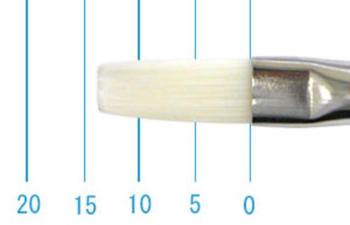 世界堂油彩筆 N666(フラット・白ナイロン)6号