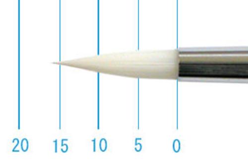 世界堂油彩筆 NR666(ラウンド・白ナイロン)4号