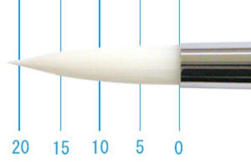 世界堂油彩筆 NR666(ラウンド・白ナイロン)8号