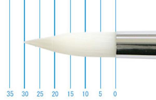 世界堂油彩筆 NR666(ラウンド・白ナイロン)14号