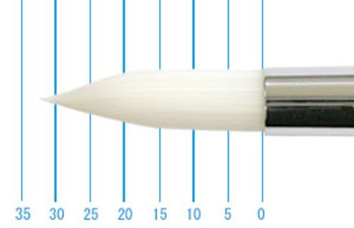 世界堂油彩筆 NR666(ラウンド・白ナイロン)16号