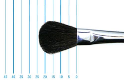 世界堂 モップブラシ(オーバル・染羊毛)1/2インチ