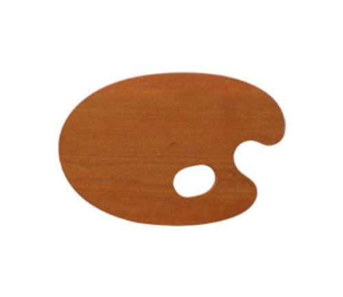 世界堂 油絵用木製パレット SM(丸型)