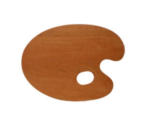 世界堂 油絵用木製パレット F3(丸型)
