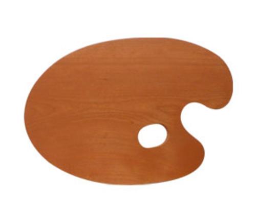 世界堂 油絵用木製パレット F4(丸型)