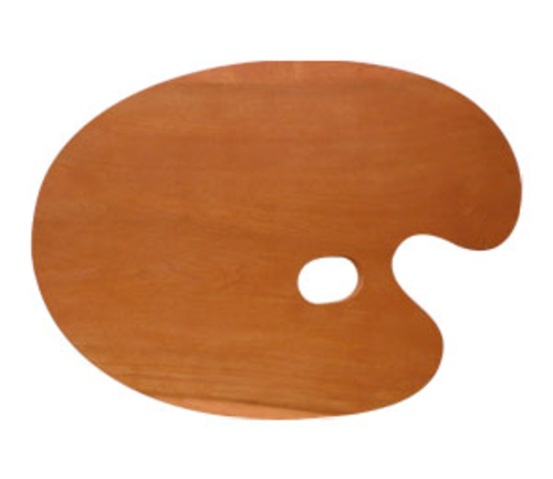 世界堂 油絵用木製パレット F6(丸型)