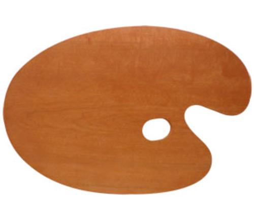 世界堂 油絵用木製パレット F8(丸型)